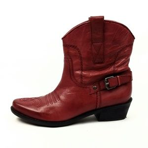 Franco Sarto Waco Western Ankle Boots 6.5M